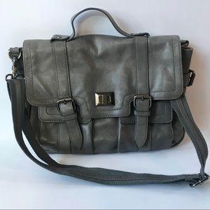 VGUC Audrey Brook Gray Leather Satchel/Crossbody
